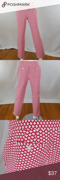 d895477ded Talbots ankle pants Talbots Chatham scalloped print ankle pants