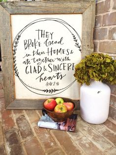 Trash to treasure project using an old barn wood frame and a tea towel from Mary…