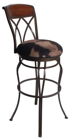Need extra tall bar stools in cowhide Weve got you covered