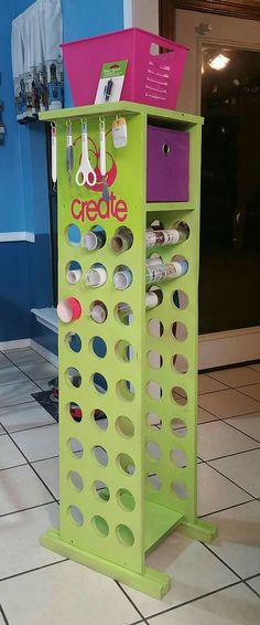 Craft room vinyl storage ideas for 2019 Craft Room Storage, Paper Storage, Craft Organization, Storage Ideas, Diy Vinyl Storage, Storage Bins, Storage Solutions, Cricut Vinyl, Cricut Craft Room