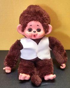 Vintage Monchhichi Monchichi Monkey Plush w Moveable Sleeping Eyes Cuddle Wit ?