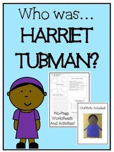 Harriet Tubman - No-prep worksheets, activities & craftivity Curriculum Planning, Homeschool Curriculum, 3rd Grade Social Studies, 2nd Grade Classroom, Harriet Tubman, Teacher Pay Teachers, Worksheets, Students, Teaching