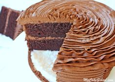 The most amazing Chocolate Buttercream Recipe! Tastes wonderful and pipes beautifully. MyCakeSchool.com Online Cake Tutorials & Recipes!