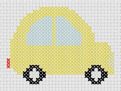 You're going to love Little Yellow Car Counted Cross Stitch by designer MelsDaisyPatch. Cross Stitch Baby, Counted Cross Stitch Patterns, Cross Stitch Charts, Embroidery Patterns, Hand Embroidery, Daisy Patches, Yellow Car, Baby Knitting, Needlework
