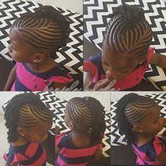 "233 Likes, 32 Comments - Sharlene (@shasha1012) on Instagram: ""#kidsbraids #mohawk #neatbraids #cornrows #hairporn"""