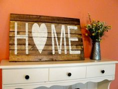 Home Wooden Sign by PeachWoodCrafts on Etsy