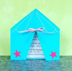 CIRCUS/ CARNIVAL Custom Invitations from Mary Had a Little Party. $25.50, via Etsy.