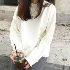 Anlay - Loose-Fit Mock-Neck Sweater   kfashion, aesthetic fashion, korean fashion, asian fashion, ulzzang