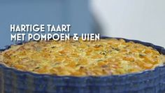 Heel Holland Bakt: Hartige taart met pompoen en uien