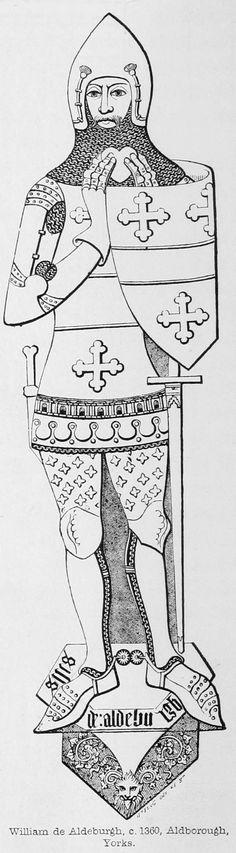 Sir William de Aldeburgh - 1360 England
