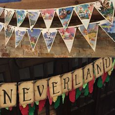 Peter Pan bunting and Neverland banner