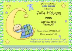 Baby Shower Invitations digital print customized by OldOwlPress