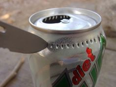 DIY camping stove out of a can