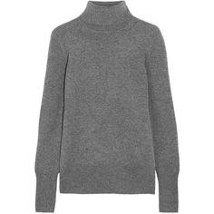 J.Crew Cashmere turtleneck sweater (305 CAD) ❤ liked on Polyvore featuring tops, sweaters, grey, gray turtleneck, grey turtleneck, j.crew, cashmere turtleneck sweaters and j crew sweaters