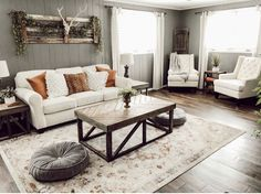 How to Remodel Your Living Room Basement Living Rooms, Living Room Remodel, Home Living Room, Living Room Furniture, Home Furniture, Living Room Decor, Rustic Furniture, Living Area, Modern Furniture