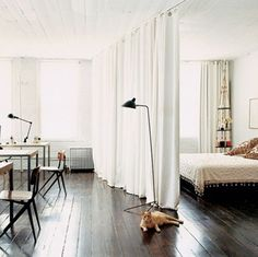 Find This Pin And More On DIY By Klaudia08052. Curtain Divider ...  Dividers For Studio Apartments