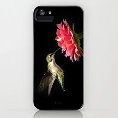 Whispering+Hummingbird+iPhone+&+iPod+Case+by+Christina+Rollo+-+$35.00