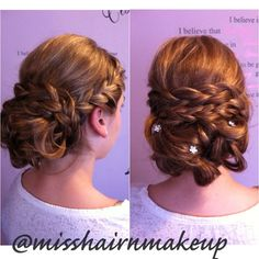 French Braid Updo that I did today for a Junior Bridesmaid Junior Bridesmaid Hair Bra Braid Bridesmaid FRENCH hairstyle junior Today Updo French Braid Updo, Braided Updo, Fancy Hairstyles, Bride Hairstyles, Hairstyle Wedding, Bridesmaid Hair Updo, Bridesmaids Hairstyles, Bridesmaid Ideas, French Hair