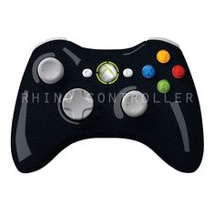 XBOX 360 controller Wireless Glossy WTP-125-Blue-Carbon-Fiber-Check Custom Painted- Without Mods