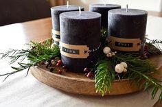 Christmas Fun, Xmas, Advent Wreath, Pillar Candles, Table Settings, Wreaths, Table Decorations, Hipster, Christmas Decorations