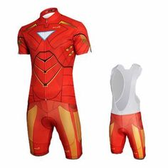 Iron Man Short Sleeve Jersey Set Bike Clothing d44094f1c