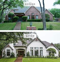 11 Best House Exterior Renovations By Joanna Gaines - Nikki's Plate Best House Exterior Renovations By Joanna Gaines; Here are the best before and after reveals on the show Fixer Upper. House Front, Curb Appeal and Home Front. Design Exterior, House Paint Exterior, Exterior House Colors, Home Styles Exterior, Exterior Signage, Craftsman Exterior, Craftsman Kitchen, Exterior Siding, Craftsman Bungalows