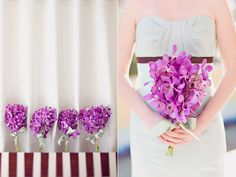 purple wedding flowers - love the shape and bust detail