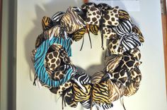 Animal Print Wreath!  www.facebook.com/redwithenvydesigns