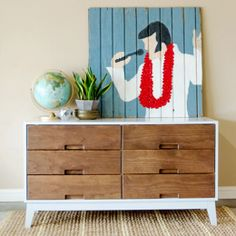 DIY mid-century dresser - built from scratch. Thanks, @Rikk 'n Holly Currence !