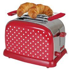 Tkg Kalorik TO 1008 RWD, Tostapane 2 fessure lunghe Vintage Toaster, Retro Toaster, Cherry Kitchen, Red Kitchen, Kitchen Stuff, Red Dots, Polka Dots, Old Fashioned Kitchen, Quirky Kitchen