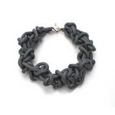 hand made necklace realized with sailing ropecomposition: 100% nylon rope | closure is nickel freehand washable