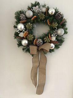 Artificial pine Christmas door wreath