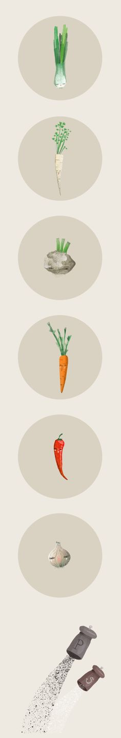 Illustrated Recipe by Anna Rudak, via Behance