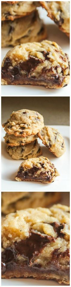 The best chocolate chip cookie recipe. These are the Chewiest, Yummiest Chocolate Chip Cookies in the World! Easy to prepare! Cookie Desserts, Just Desserts, Cookie Recipes, Delicious Desserts, Dessert Recipes, Yummy Food, Yummy Yummy, Delish, Best Chocolate Chip Cookies Recipe