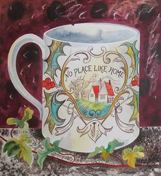 Emily Sutton - GODFREY & WATT – Harrogate, North Yorkshire - specialising in British art Watercolor Illustration, Watercolor Art, North Yorkshire, Teapots And Cups, Naive Art, Still Life, Pottery, Heath Robinson, Illustrations Posters