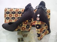 Gorgeous Afro print shoes by the one and only Fikile from SouthOfAfrica - available on etsy.com