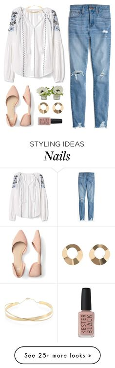 """""""Kelsey"""" by brie-the-pixie on Polyvore featuring Madewell, Gap, MANGO, Kester Black, Lana Jewelry and spring2018"""