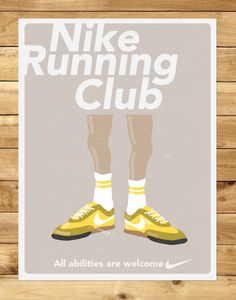 Nike Running Posters Vintage Vintage Nike Running Poster