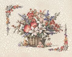 Basket with Lilies Print by T. C. Chiu at Art.com