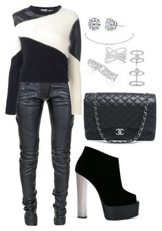 """""""Untitled #1600"""" by cecilia-rebecca-stagrum-buch on Polyvore featuring Chanel, Balmain, FAUSTO PUGLISI, Giuseppe Zanotti, Harry Kotlar, Odelia, Effy Jewelry and Messika"""