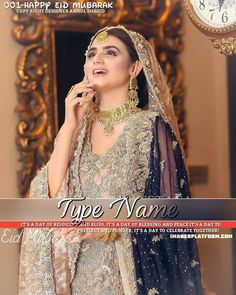 Lush Girl Wallpaper And Dp For Eid Ul Fitr Pakistani Bridal Dresses, Bridal Gowns, Eid Mubarak Photo, Happy Eid Mubarak, Blue Bridesmaid Dresses, Wedding Dresses, Bouquet Wedding, Wedding Nails, Pakistan Bride