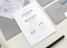 Modern Wedding Invitations, Modern Marble Wedding Invitation, Simple Wedding Invitations, black and white invite, Marble envelope liner by TiedandTwo on Etsy https://www.etsy.com/listing/478387632/modern-wedding-invitations-modern-marble