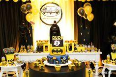 Decoração incrível de Festa Infantil Batman