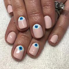 Evil Eye Half-moons for Wally #nicenailsfornicepeople