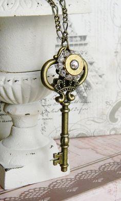 Bullet Necklace Bullet Jewelry Key Necklace by SecretGardenNotes
