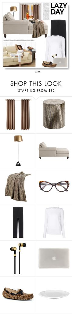 """Lazy Day"" by talvadh ❤ liked on Polyvore featuring Pier 1 Imports, Dolce&Gabbana, James Perse, T By Alexander Wang, Master & Dynamic, Tucano, UGG, LazyDay, comfy and sweatpants"