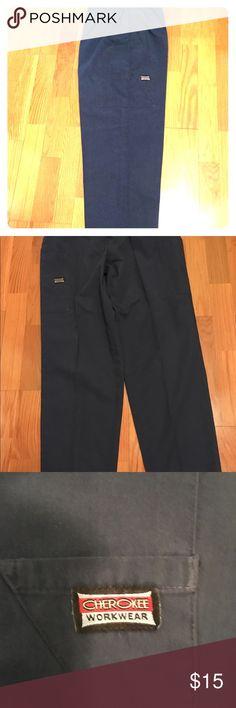 Cherokee Workwear Pants Navy Blue Cherokee Workwear Scrubs.  Pants are in good condition.  No rips or tears. Cherokee Pants