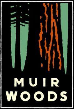 Michael Schwab - National Park Service posters (Muir Woods)
