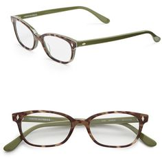 Corinne Mccormack 50mm Cyd Reading Glasses ($68) ❤ liked on Polyvore featuring accessories, eyewear, eyeglasses, green, green reading glasses, corinne mccormack glasses, corinne mccormack, animal print reading glasses and animal print glasses