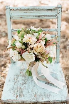 Daydreaming of Dahlias: Romantic Floral Wedding Ideas - bridal bouquet; The Vine's Leaf